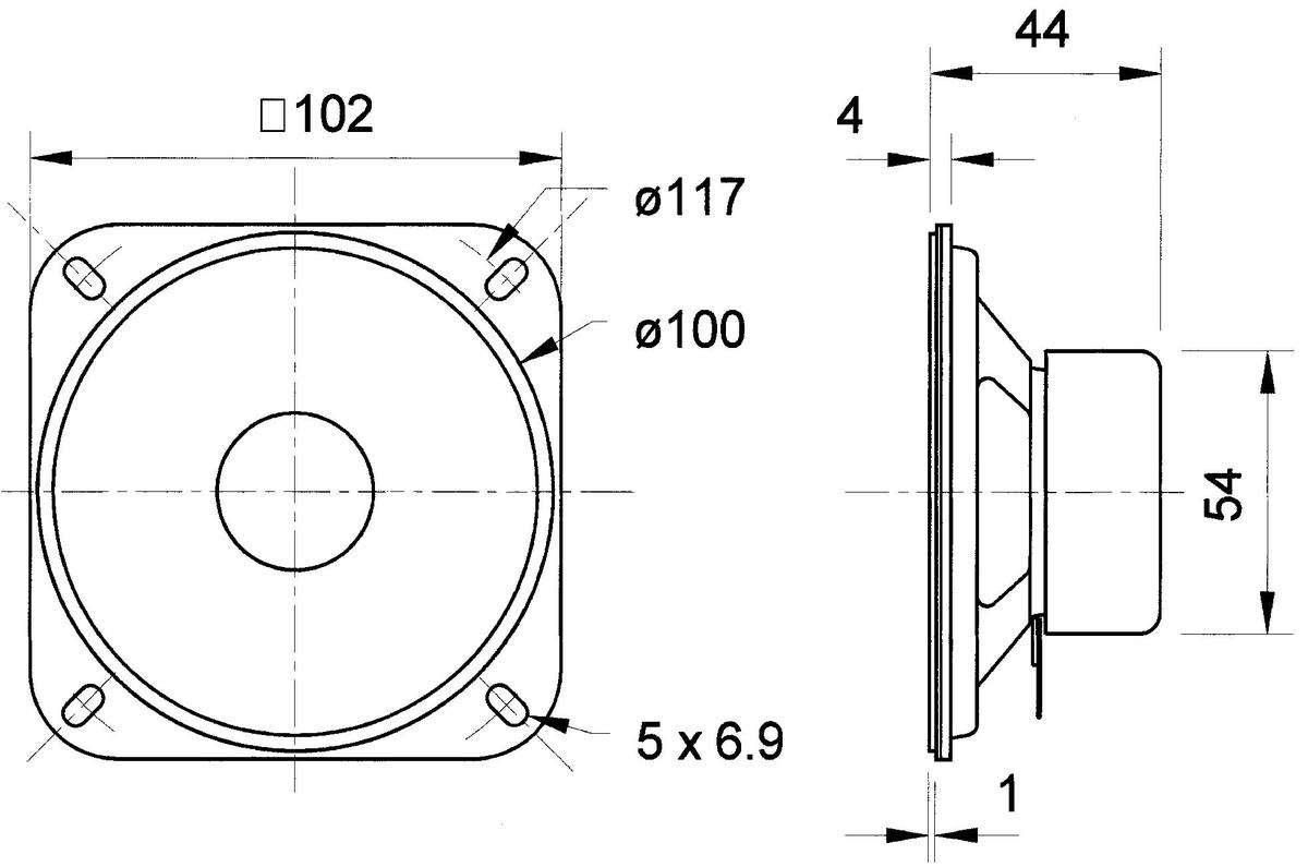 Magnetisch Afgeschermde 10 Cm 4 Breedband Luidspreker 4