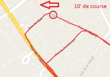 10' de course
