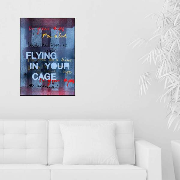 Flying in your cage aan muur