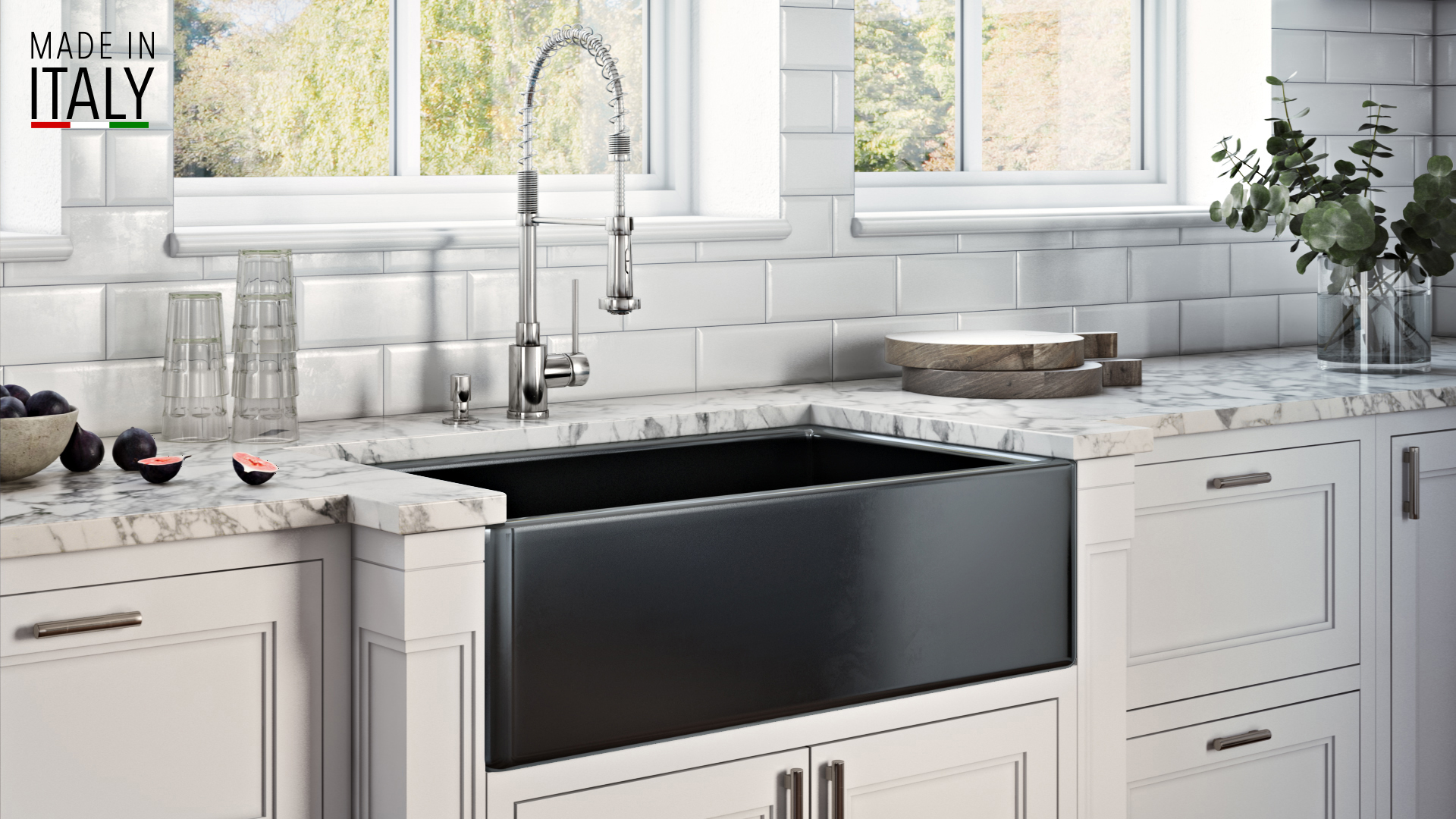 33 x 20 inch fireclay reversible farmhouse apron front on farmhouse sink lowest price id=22598