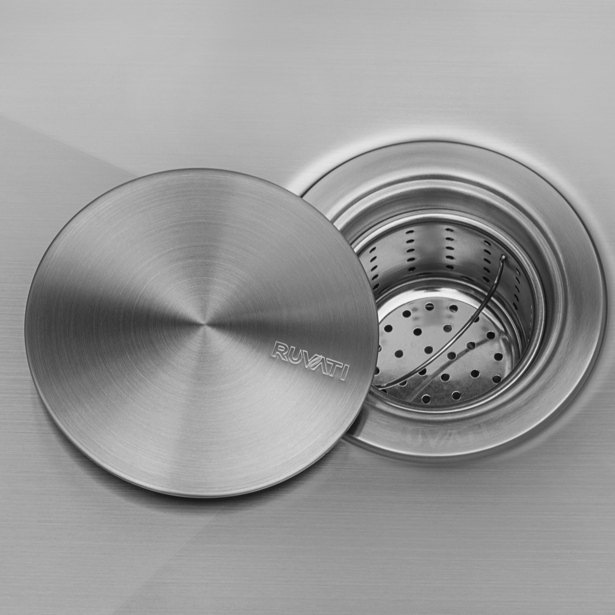 ruvati drain cover for kitchen sink and
