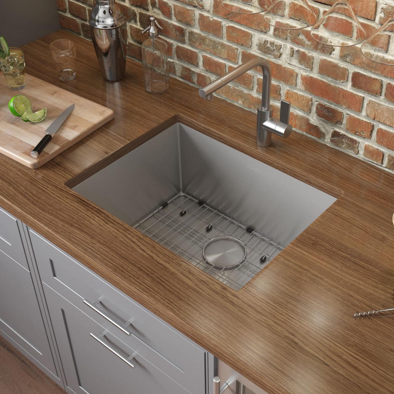 https www ruvati com products ruvati 27 inch undermount 16 gauge tight radius stainless steel kitchen sink single bowl rvh7127