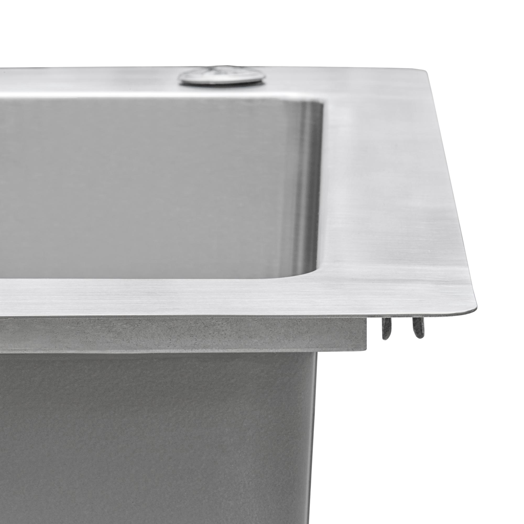 Ruvati 33 X 22 Inch Drop In Topmount Kitchen Sink 16 Gauge Stainless Steel 70 30 Double Bowl Rvm5173