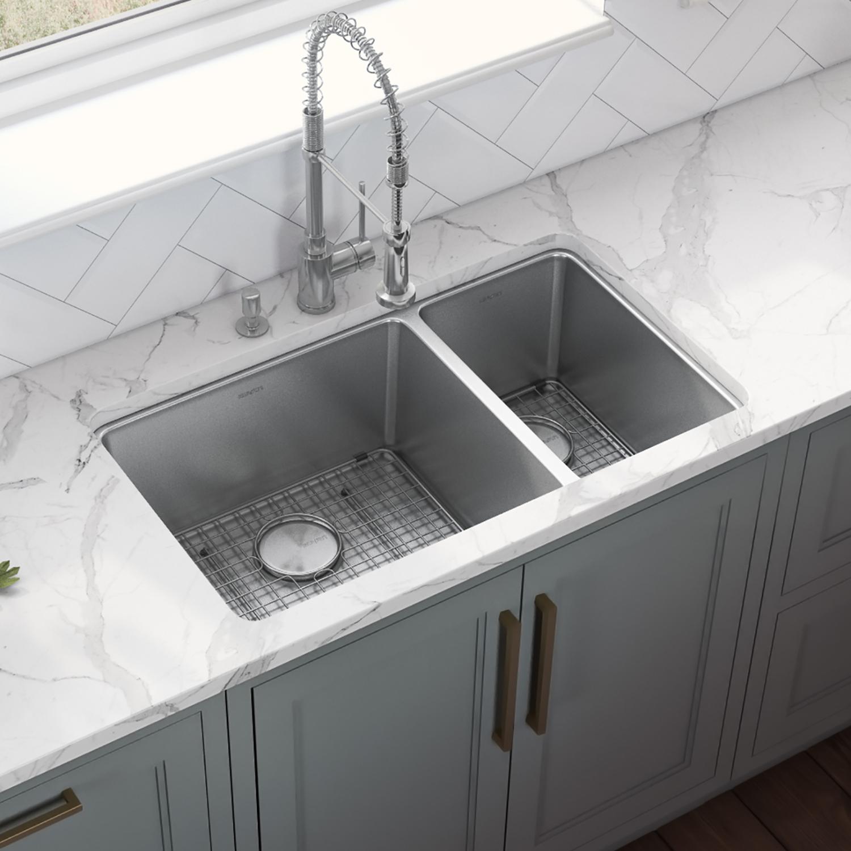 32 inch undermount kitchen sink 70 30