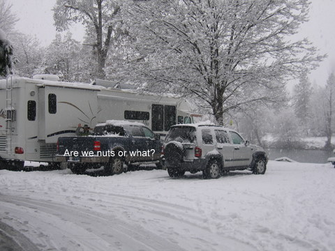 oregon,rogue river,winter,snow,rv,camping,fishing,flycasters,rv park