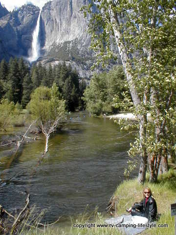 yosemite rv camping, merced river