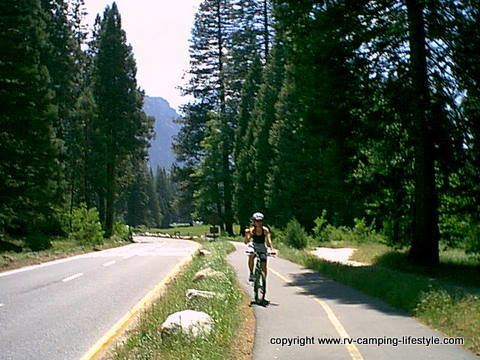 yosemite, rv camping, biking yosemite, waterfalls yosemite