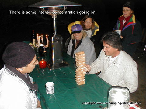 camping games, rv games, rv fun, jenga