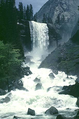 yosemite, vernal falls, rv camping, waterfall