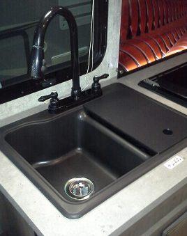 19 x 25 60 40 kitchen sink covers black