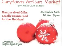 Carytown Artisan Market: December 14th