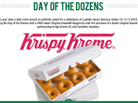 FREE Krispy Kreme during Day of the Dozens event