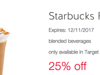 25% Off Starbuck's Frappuccino at Target Stores