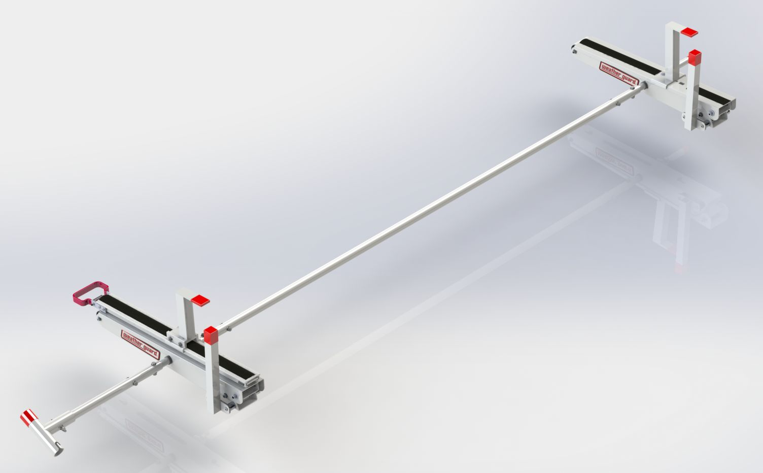 2295 3 01 weather guard werner ladder rack drop down mechanism for use with ez glide 2 drop down ladder rack to load ladders on the driver side of v