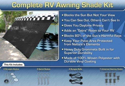 Rv Awning Shade Kit Rv Shade 8 215 16 Black Rv Awnings Store