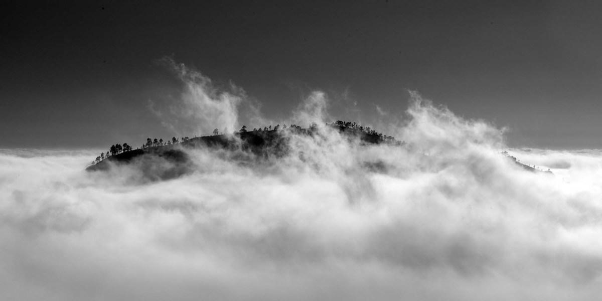 Moln och berg