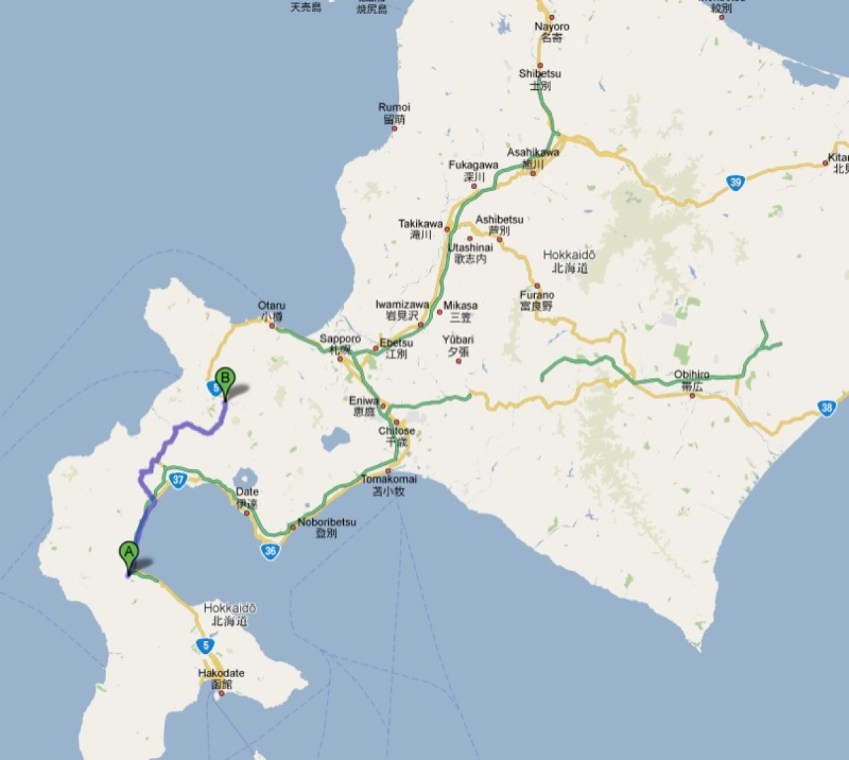 100809 Map Yakumo-Kutcha