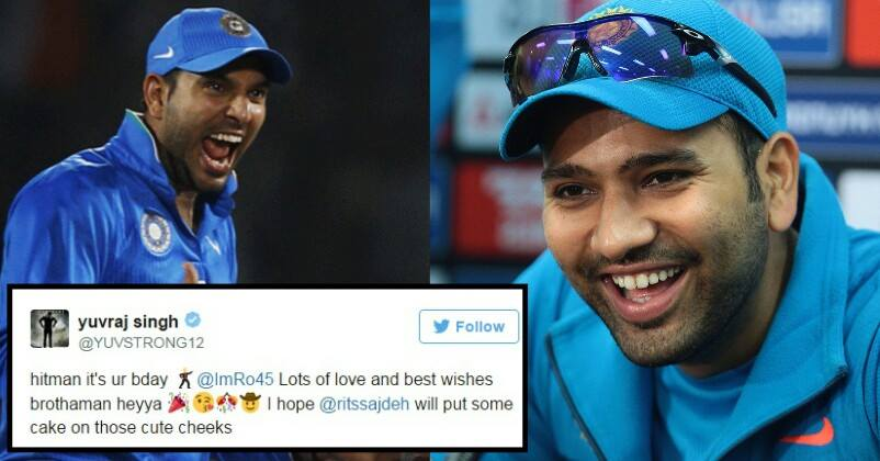 Yuvraj Singh Wished Happy BDay To Rohit Amp Trolled Him Rohits Epic Reply Is Hilarious RVCJ