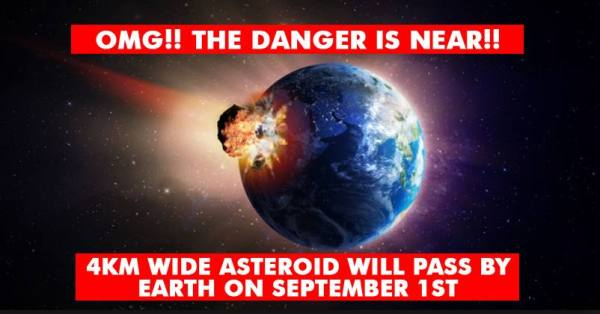 Is This Hinting Towards Danger? 4 Km Wide Asteroid To Pass ...
