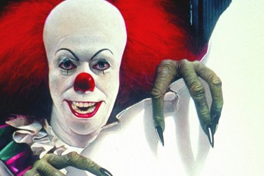 Pennywise from It picture taken fromhttp://www.theatlantic.com/notes/2015/11/20-years-of-pennywise-the-clown/416577/