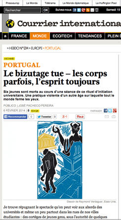 Courrier International, web page