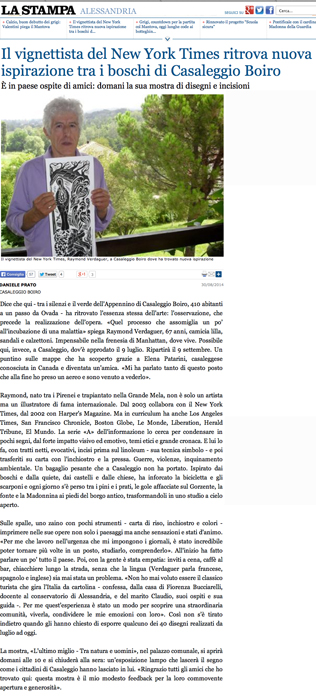 la Stampa interview, webpage