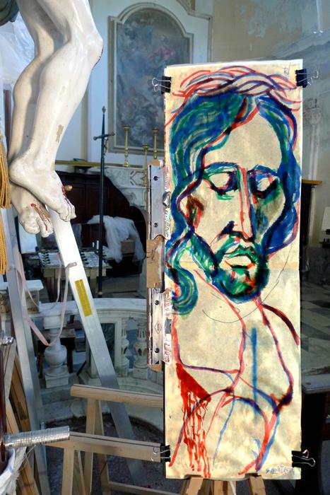 pittura crocifissione #12