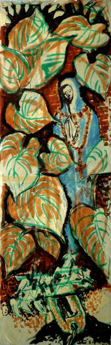 ink painting - Vierge de la Fonte # 19