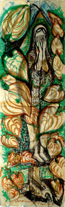 ink painting - Vierge de la Fonte # 27