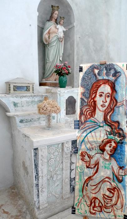 pittura -Madonna col Bambino . tav. 33