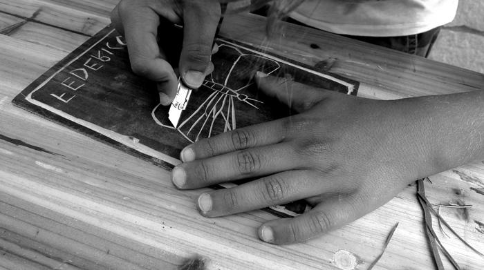 Musica e incisione laboratorio 2014, Italia.Tav. 24