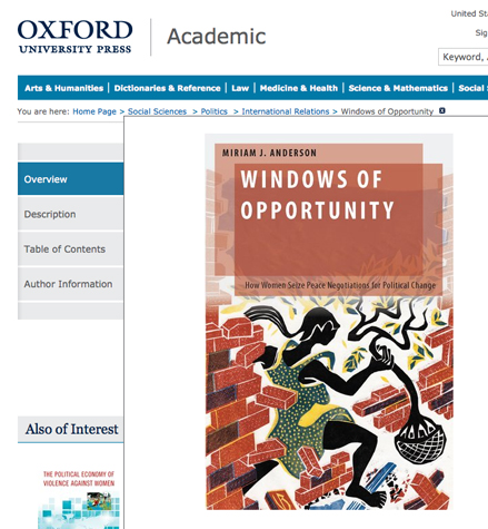 Windows of Opportunity - Oxford University Press website