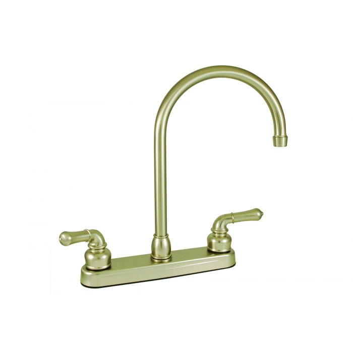 brushed nickel rv mobile home kitchen faucet faucet with gooseneck spout