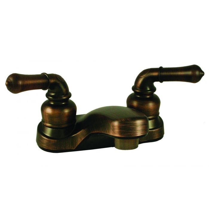 oil rubbed bronze rv mobile home bathroom faucet with teapot handles