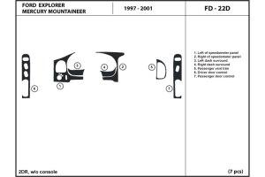 DL Auto® Mercury Mountaineer 19972001 Dash Kits