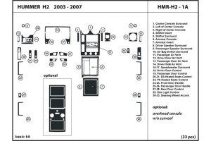 DL Auto® Hummer H2 20032007 Dash Kits