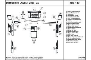 2008 Mitsubishi Lancer Dash Kits | Wood Trim