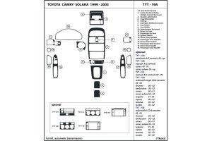 2001 Toyota Solara Dash Kits | Custom 2001 Toyota Solara