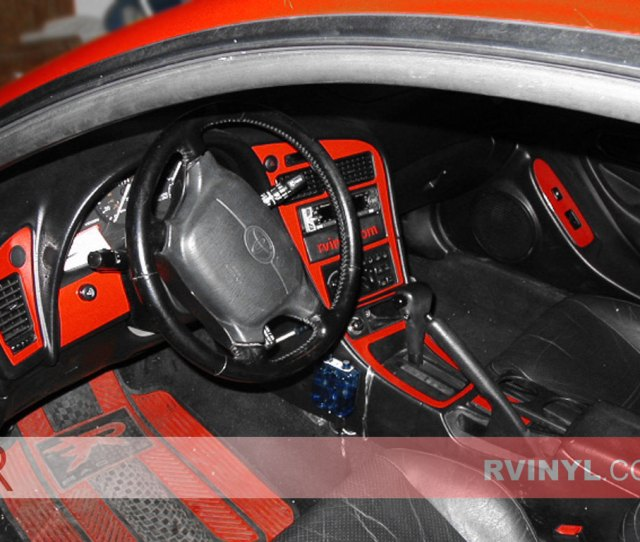 Toyota Celica 1994 1999 Red Dash Kits With Speedometer Accents