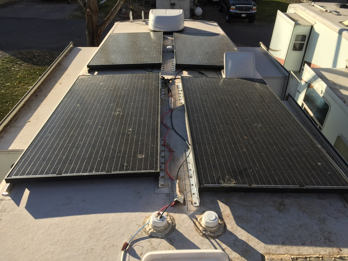 RV Solar 1280 Watts of off grid boondocking power