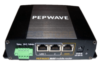 A dedicated mobile router like this Pepwave MAX BR1 combines an integrated cellular modem, Wi-Fi networking, and wired Ethernet ports. Think of it as a mobile hotspot on steroids.