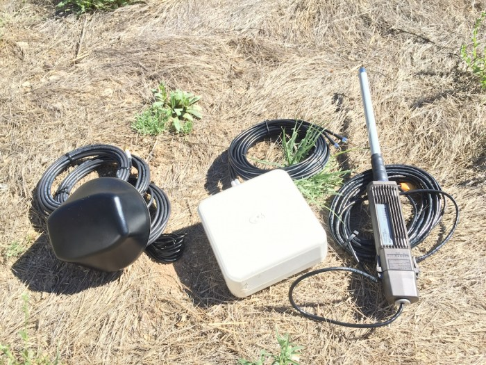 New toys to test: MobileMark 4-Cable Antenna, Panorama Wideband MiMo Antenna, and WiFiRanger Elite WiFi CPE.