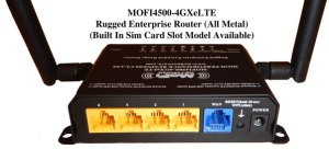 The rear of the MoFi features five wired 100Mbps ethernet ports.