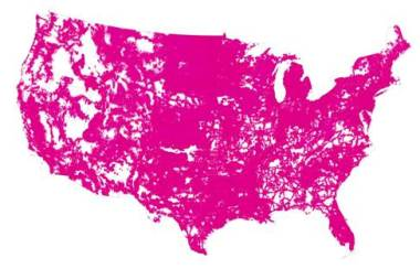T-Mobile has shared this projected coverage map for their network by the end of 2015. Impressive growth indeed!