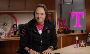 "T-Mobile CEO John Legerre tweeted about AT&T's DirecTV Now announcement: ""It's an APP, people! Of course it's better on @TMobile …and like ALL apps, use it data-free with #TMobileONE!!"""