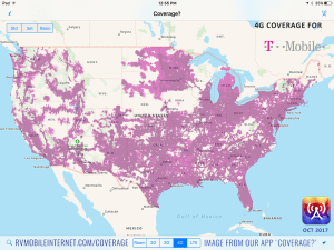The Four Major US Carriers Verizon ATT TMobile And Sprint - Us sprint coverage map