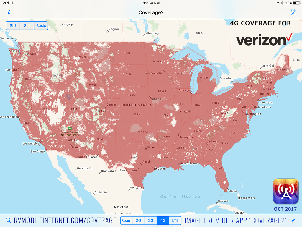 The Four Major US Carriers Verizon ATT TMobile And Sprint - Us cellular coverage map vs verizon