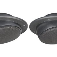"Magnadyne Ls2cmwblk Pair of 2 1/2"" Ceiling Mount Satellite Speaker for RV's Mobile Home Black"