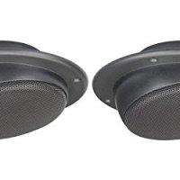 """Magnadyne Ls2cmwblk Pair of 2 1/2"""" Ceiling Mount Satellite Speaker for RV's Mobile Home Black"""