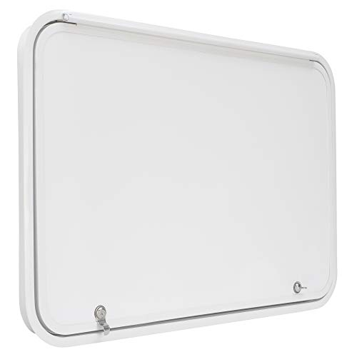 Trailer Compartment Doors /… RecPro RV Baggage Door 12 Wide x 12 High with Rounded Corners for RVs Compartment Storage Doors with Top Hinge for Campers